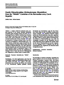 Middle'' Cambrian of the Barrandian area, Czech ... - Springer Link