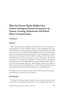 Middle-Class Chinese Immigrant Parents' Perspectives on ... - Eric