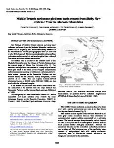 Middle Triassic carbonate platform-basin system from ...