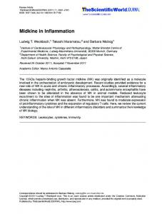 Midkine in Inflammation - BioMedSearch
