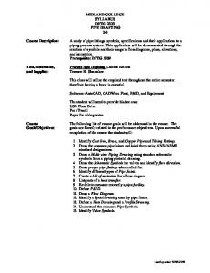 MIDLAND COLLEGE SYLLABUS DFTG 2323 PIPE DRAFTING 2-4 ...