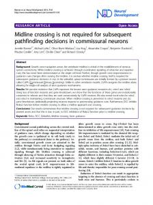 Midline crossing is not required for subsequent ... - BioMedSearch