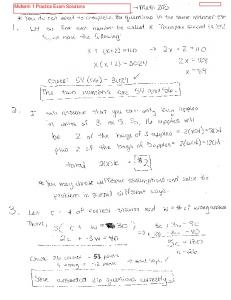 Midterm 1 Practice Exam Solutions - Elementary Mathematics for ...