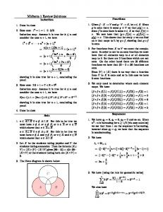 Midterm 1 Review Solutions A B C