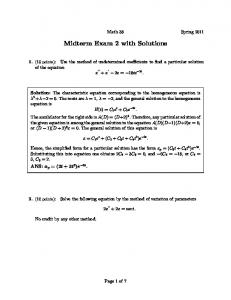 Midterm Exam 2 with Solutions