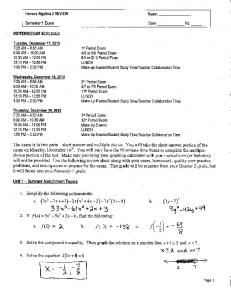 Midterm Exam Review Answers