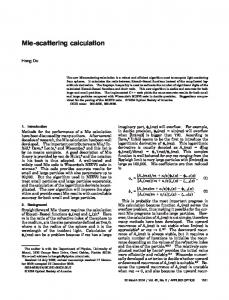Mie-scattering calculation - OSA Publishing