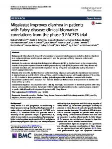 Migalastat improves diarrhea in patients with Fabry disease: clinical ...