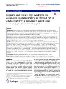 Migraine and restless legs syndrome are associated in adults under ...