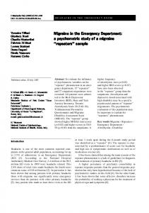 Migraine in the Emergency Department: a ... - Springer Link