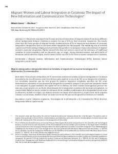 Migrant Women and Labour Integration in Catalonia: The Impact of