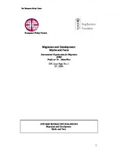 Migration and Development - European Policy Centre