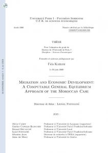 Migration and Economic Development: A Computable General