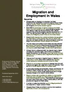 Migration and Employment in Wales - Wales Migration Partnership
