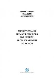 migration and human resources for health - International ...