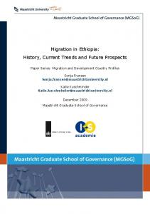 Migration in Ethiopia: History, Current Trends and Future - MGSoG