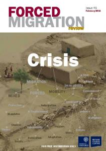 MIGRATION MIXED FORCED Immobility - Forced Migration Review