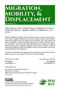 Migration, Mobility, & Displacement