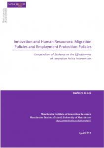 Migration Policies and Employment Protection Policies