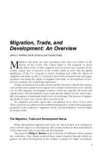 Migration, Trade, and Development - Federal Reserve Bank of Dallas