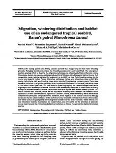Migration, wintering distribution and habitat use of an endangered ...