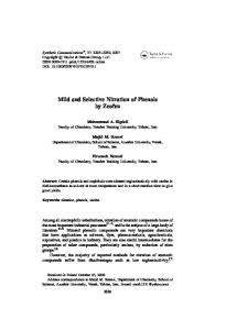 Mild and Selective Nitration of Phenols by Zeofen - Taylor & Francis