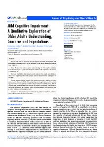 Mild Cognitive Impairment: A Qualitative ... - Semantic Scholar