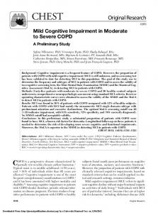 Mild Cognitive Impairment in Moderate to Severe COPD