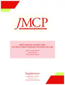 Mild-to-Moderate Ulcerative Colitis: Your Role in Patient Compliance ...