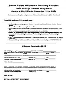Mileage Contest Form - Storm Riders Oklahoma HOG Chapter