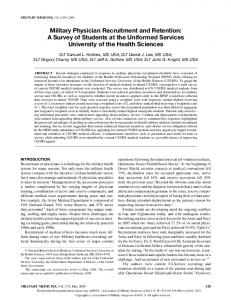 Military Physician Recruitment and Retention: A ...