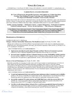 Military to Aviation Resume Example