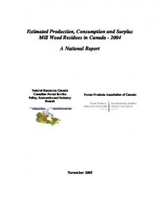 Mill Biomass Inventory - Publications du gouvernement du Canada