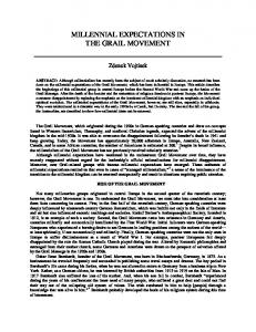 MILLENNIALISM AND THE GRAIL MOVEMENT