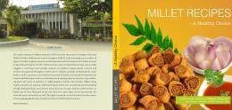 millet recipes - Indian Institute of Millets Research