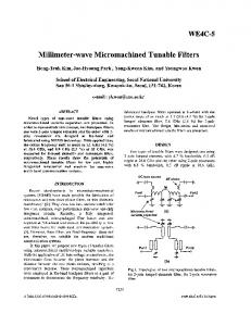 Millimeter-wave micromachined tunable filters - IEEE Xplore