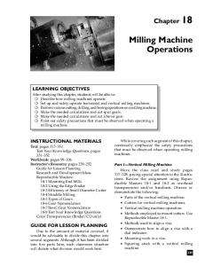 Milling Machine Operations - NEMES Home Page