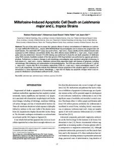 Miltefosine-Induced Apoptotic Cell Death on Leishmania ... - CiteSeerX