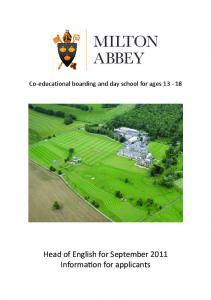 MILTON ABBEY - The TES