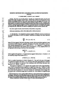 MIMETIC METHODS FOR LAGRANGIAN RELAXATION OF ...