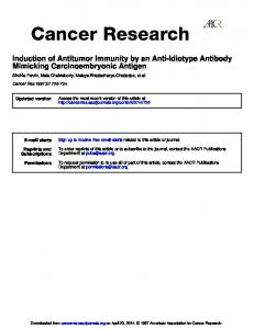 Mimicking Carcinoembryonic Antigen Induction of