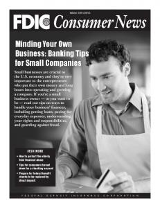 Minding Your Own Business: Banking Tips for Small Companies