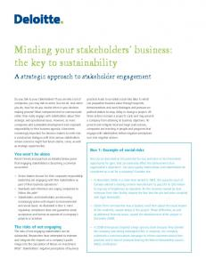 Minding your stakeholders' business - global dialogue inc