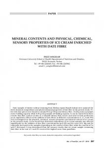 mineral contents and physical, chemical, sensory ... - Chiriotti Editori