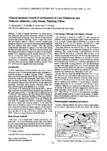 Mineral magnetic record of environment in Late ... - Wiley Online Library