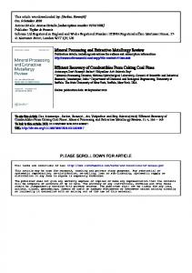 Mineral Processing and Extractive Metallurgy Review ...