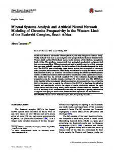 Mineral Systems Analysis and Artificial Neural ...