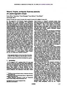 Mineral, Virginia, earthquake illustrates ... - Wiley Online Library