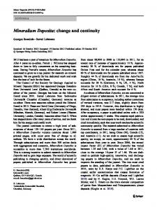 Mineralium Deposita: change and continuity - Springer Link