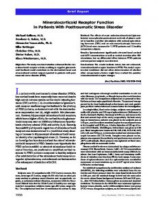 Mineralocorticoid Receptor Function in Patients With Posttraumatic